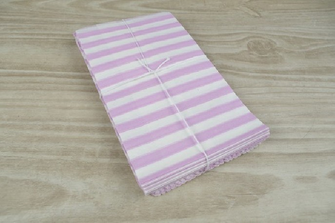 sachets pochettes lot de 10 en papier blanc a motif rayures horizontales lilas 9 x15 cm pour. Black Bedroom Furniture Sets. Home Design Ideas