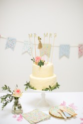 cake topper MR & MRS liberty décoration gateau mariage