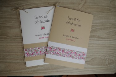 Couverture Livret de messe liberty Eloise
