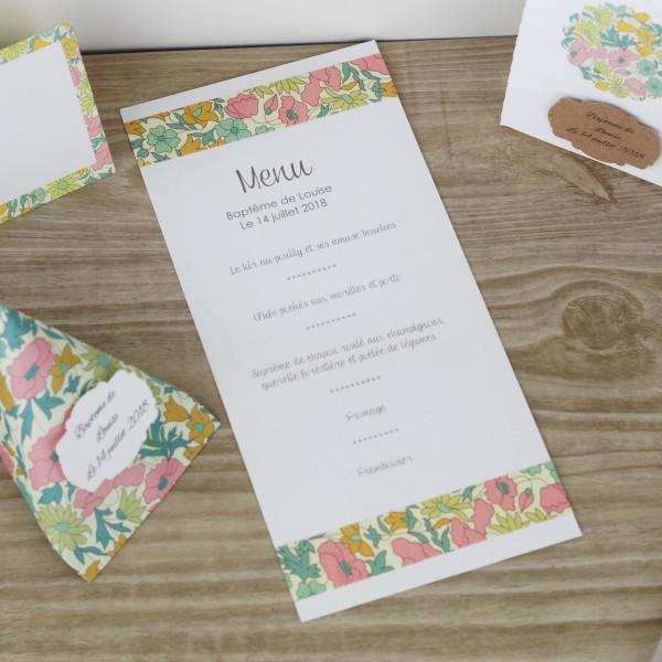 menu-liberty-pour mariage champêtre chic -bapteme-anniversaire