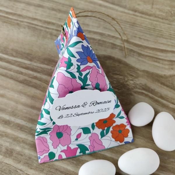 Ballotin à dragées mariage baptême berlingot poppy and daisy