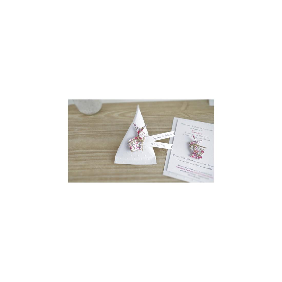 boite a dragees berlingotlapin en origami liberty eloise cadeau de remerciement invites. Black Bedroom Furniture Sets. Home Design Ideas